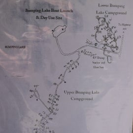 Campground Map, 43, 44, 45 on the Lake