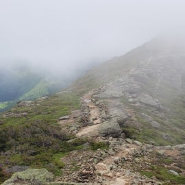 Franconia Ridge, approaching Lincoln as the clouds begin to clear