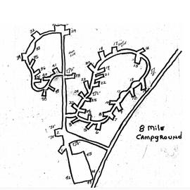 Campground map from Ranger Station