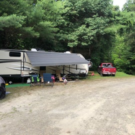 Another view of RV sites 11 & 12.