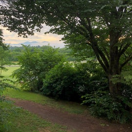 Brasstown morning from Keith House deck.