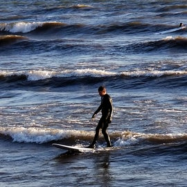 Inland surfing lake Ontario