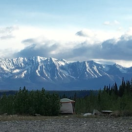 Campsite with Chugach Mountains
