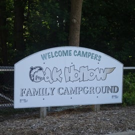 As you pass the tennis center and approach the campground - this is the sign you see at the gate.