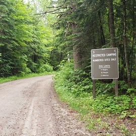 Entrance to the Gale River Loop rd