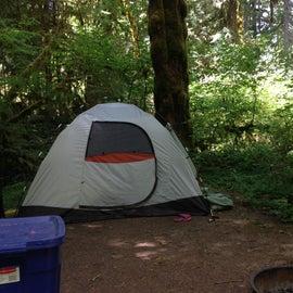 Tent spot at Horse Creek