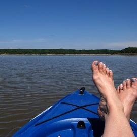 Early morning kayaking!