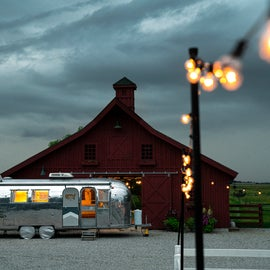 RV 30 amp parking in front of the recreation barn. View from alpaca pen. (photo: Dave Pavlina @davepavlina)