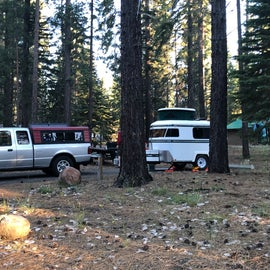 Trying out our new mini Meerkat camper..we were the smallest camper in the entire campground!