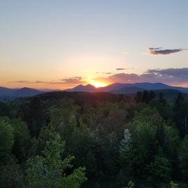 Sunset view from firetower