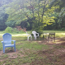 Huge, private campsite close to property trails. Plenty of space for multiple tents