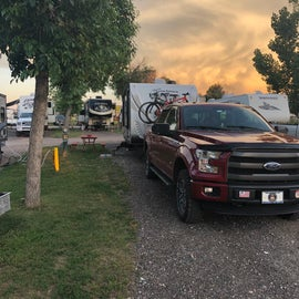Our site. Just long enough for truck and trailer.