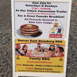 Pancake breakfast and BBQ.