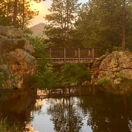 Bridge over the dam, Bismarck Lake Campground