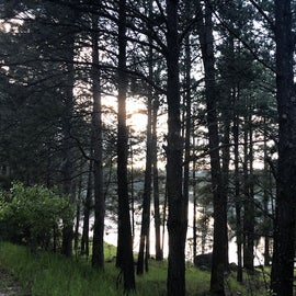 View of Bismarck Lake from the campground.