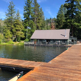 View of Boathouse from dock.