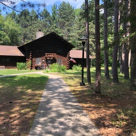 The visitor center at Norway Beach recreation area inside the Chippewa national forest