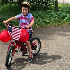 Just a few decorations after decorating our bikes at the visitor center for the Fourth of July
