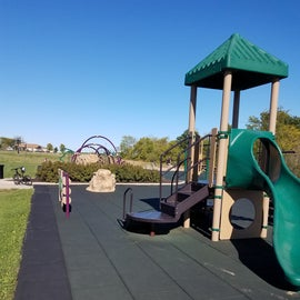 Playground is a short walk from the RVs.