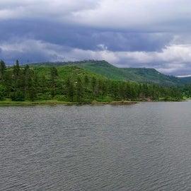 Shot of Lake Maloya