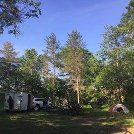 Fairly large campsite we spread across.