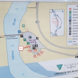 Campground map for Umtanum