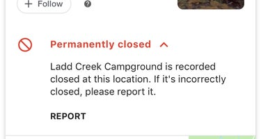 Ladd Creek Campground