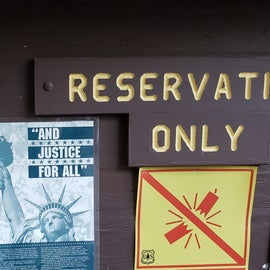 Map - reservations only in summer; check in at the Dolly Copp campground