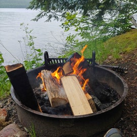 Each site has a picnic table and fire ring.