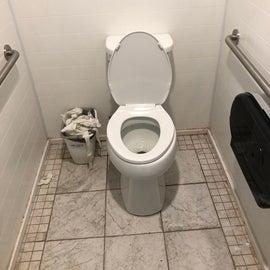 Toilets were okay besides the always overflowing trash