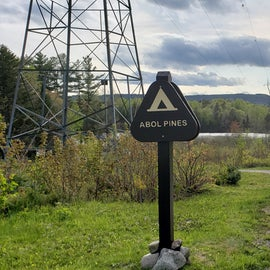 This is the sign at the turnoff from the Golden Road. The building in the distance to the right is the Abol Bridge Store, just before the bridge.