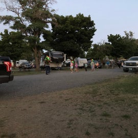 Glo-lite parade for the littles. Tent site M faced the RV.s.