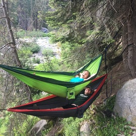 Hammock life at the campground.