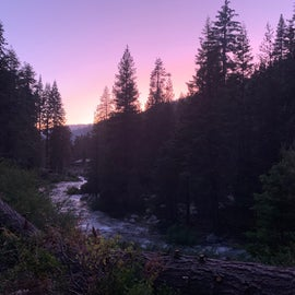 Evening view from campground.