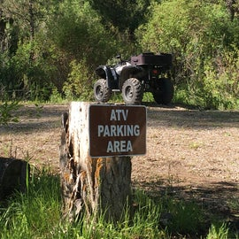 Loved that ATV's had their own parking outside the campground