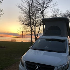 Awesome sunset view from our site!