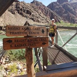 crossing suspension bridge over colorado river