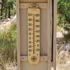 only 110 in the shade!