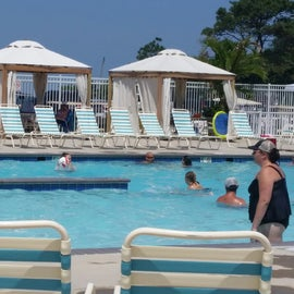 The larger pool near the beach