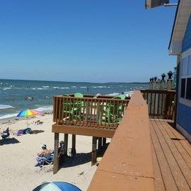 Sunset Beach - deck is Jackspot restaurant