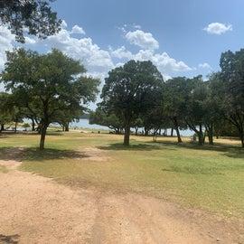 Campground view toward lake Travis