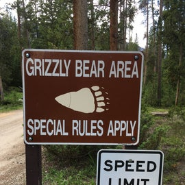 Familiarity with bears in campgrounds in the area means take this seriously!