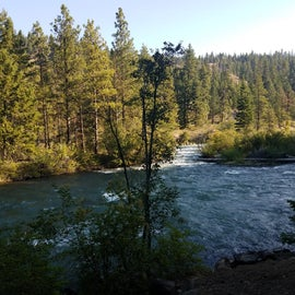 View of the river from camp