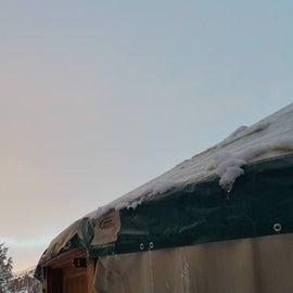 Sunset at the yurt