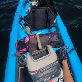 Kayaking out to the Island