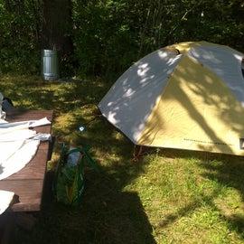 My campsite.