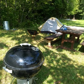 They had a grill we could use.  That was a first at a campsite for me.