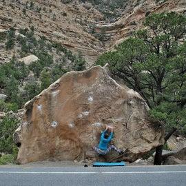 Roadside climbing is a plus