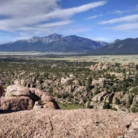 View from the top of Turtle Rock.  Check out the mountains!