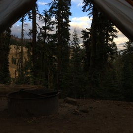 The view from my tent.